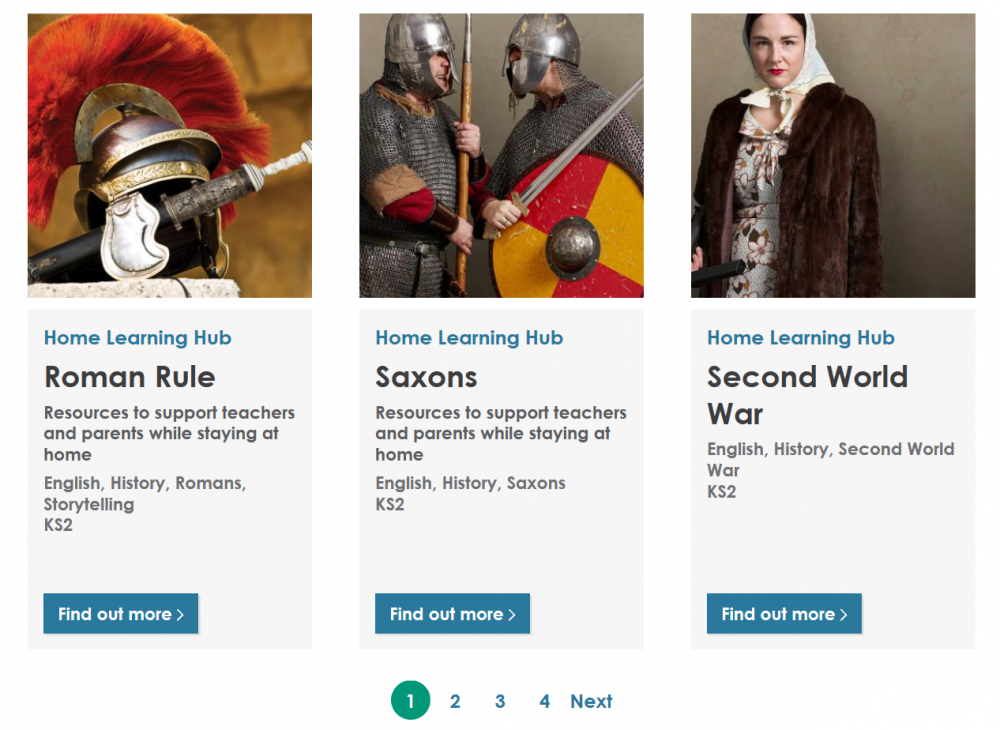 A screengrab of 3 learning modules from the learning hub